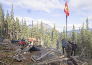 A First Nations group protesting a copper and gold mining site in the heart of the Sacred Headwaters of northwest B.C. was responded to by RCMP officers with rifles on Friday afternoon, according to several eyewitness accounts.